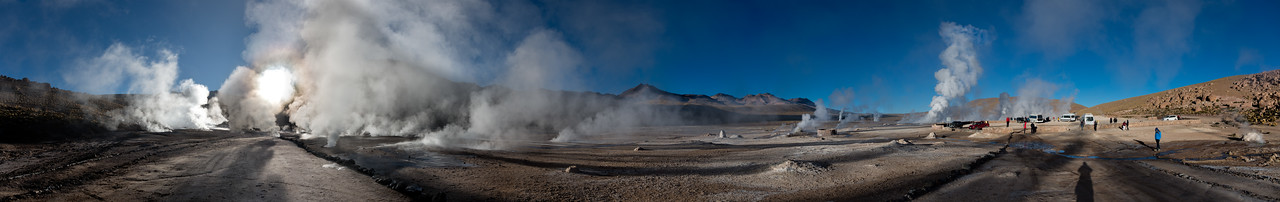 Tatio Geysers in the early morning