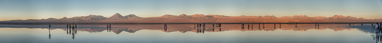 An evening at the Laguna Tebinquiche, Atacama desert, Chile