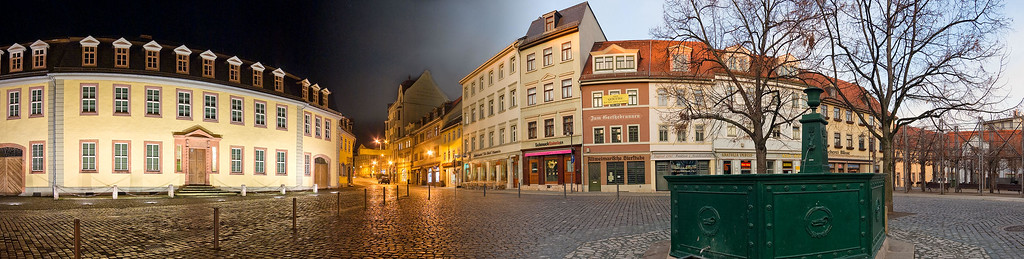 Goethe House - night and day